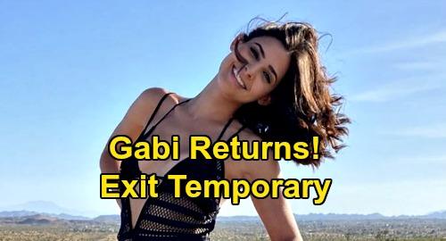 Days of Our Lives Spoilers: Camila Banus Returns as Gabi Hernandez DiMera After Temporary Exit - Filming September 1 Confirmed