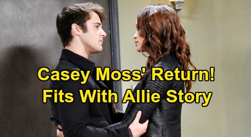 Days of Our Lives Spoilers: Casey Moss' Return Fits With Allie's Story - JJ & Lani's Blackout Drunk Night Together Revisited?