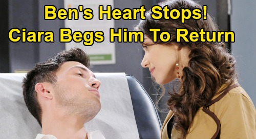 Days of Our Lives Spoilers: Ben's Heart Stops After Two Lethal Injections – Ciara Prevents Third Final Dose, Begs Ben to Come Back