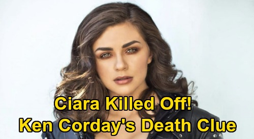 Days of Our Lives Spoilers: Ciara Shocking Death Clue – DOOL Executive Producer Ken Corday's Ominous Hint