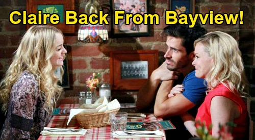 Days of Our Lives Spoilers: Claire Returns from Bayview with Shawn & Belle's Help – Ciara & Ben Wedding Obsession Spells Trouble