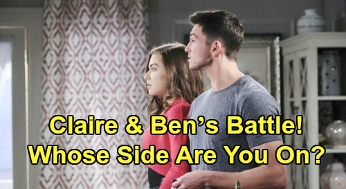 Days of Our Lives Spoilers: Claire and Ben's Battle, Whose Side Are You On? – Dark Histories and Warning Signs Can't Be Ignored