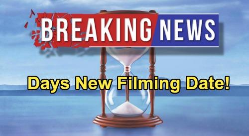 Days of Our Lives Spoilers: DOOL Cast Back on Set Filming New Episodes September 1 - Production Restart Details