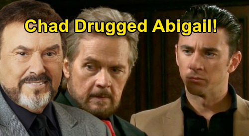 Days of Our Lives Spoilers: Did Chad Unknowingly Drug Abigail, Still Under Stefano's Mind Control – Followed Father's Orders Himself?