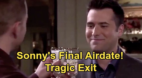 Days of Our Lives Spoilers: Freddie Smith Reveals Sonny's Final Airdate, Tragic Exit – Dark Days Ahead, No Return?