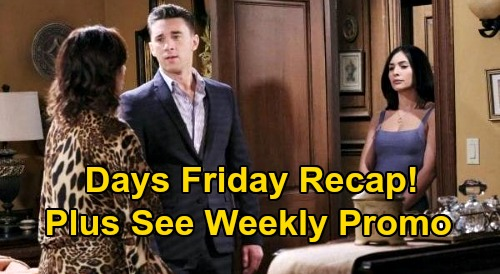Days of Our Lives Spoilers: Friday, August 14 Recap - Ciara Thwarts Vincent's Plot - Jake Saves DiMera Deal - Claire Rats Out Eve