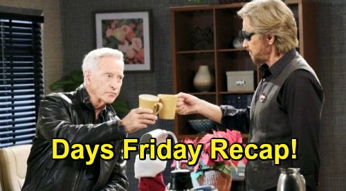Days of Our Lives Spoilers: Friday, December 25 Recap - Claire Interrupts Charlie Preparing To Kill Ava - John & Steve Reconcile