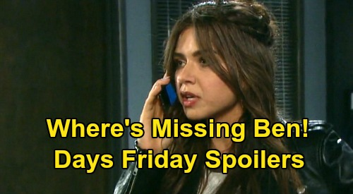 Days of Our Lives Spoilers: Friday, July 24 – Ciara Desperate Ben Hunt – Bomb Suspect Claire - Rafe's Adoption Decision