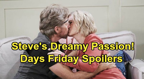 Days of Our Lives Spoilers: Friday, June 5 – Steve's Kayla Passion - Claire Opens Up to Gwen - Jake Warns Ben & Ciara of Gabi Death Threat