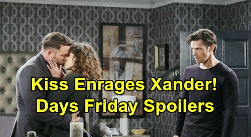 Days of Our Lives Spoilers: Friday, May 29 – Brady & Sarah's Kiss Enrages Xander – Will's Baby News – John Blasts Victor