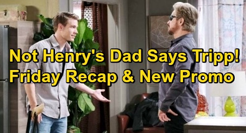 Days of Our Lives Spoilers: Friday, October 2 Recap - Tripp Says He's Not Henry's Father - Vincent Agrees To Talk - Eli's Deal