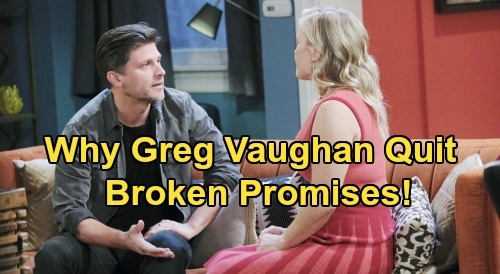 Days of Our Lives Spoilers: Greg Vaughan Reveals Reasons for Eric Brady Exit - Broken Promises - Felt Like 'Glorified Extra'