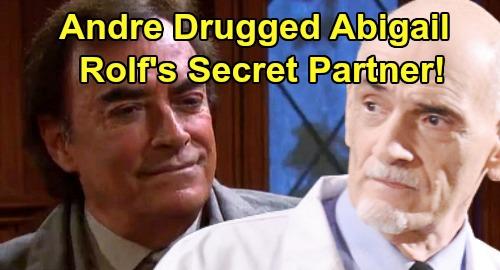 Days of Our Lives Spoilers: Is Andre DiMera Alive, Behind Abigail Drugging & Stefan Saving – Dr. Rolf's Secret Accomplice?