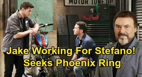 Days of Our Lives Spoilers: Is Jake Lambert Working for Stefano DiMera – Mission to Retrieve Phoenix Ring?