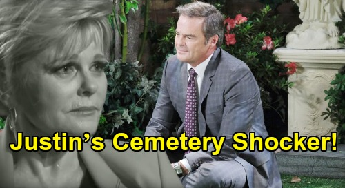 Days of Our Lives Spoilers: Justin's Cemetery Shocker, Judi Evans Return - Sees Familiar Face But Is It Adrienne or Bonnie?