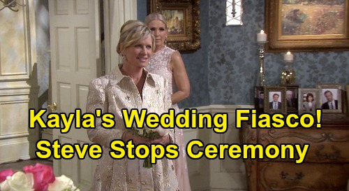 Days of Our Lives Spoilers: Justin & Kayla's Wedding Fiasco - Steve Interrupts Ceremony & Begs Bride To Marry Him?