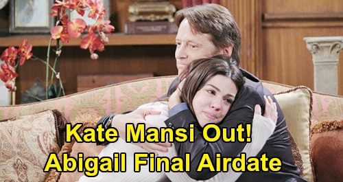 Days of Our Lives Spoilers: Kate Mansi Exits DOOL, Last Airdate - Only Billy Flynn Returns - Chad & Abigail Leave Salem