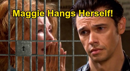 Days of Our Lives Spoilers: Maggie Hangs Herself in Prison Cell, Horrified Xander Yanks Her Down – Suicide Letter Sets Up Rescue