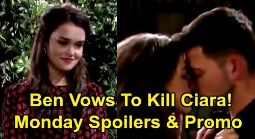 Days of Our Lives Spoilers: Monday, August 24 – Ben Traps Ciara at Paige's Dorm, Vows to Kill Her – Sami Confesses to Marlena