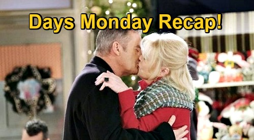 Days of Our Lives Spoilers: Monday, December 21 Recap - Justin Kisses Bonnie - Brady Visits Kristen - Victor Cheers Up
