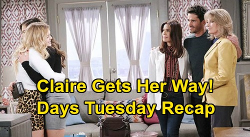 Days of Our Lives Spoilers: Monday, June 22 Recap - Jake Gets Book & Girlfriend Back - Ciara Asks Claire To Be Maid of Honor