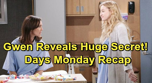 Days of Our Lives Spoilers: Monday, June 8 Recap - Gwen Faked Breakdown, Hiding From Jake With Stolen Mob Property