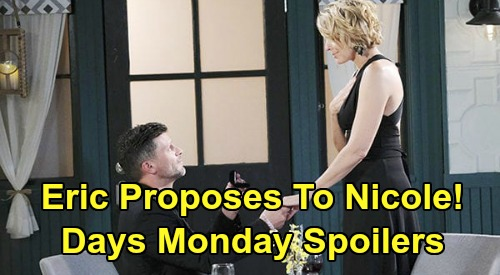 Days of Our Lives Spoilers: Monday, May 25 – Eric Asks Nicole to Marry Him – Orpheus Knocked Out and Captured – Zoey Goes Rogue