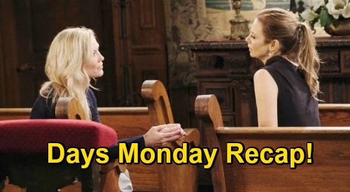 Days of Our Lives Spoilers: Monday, November 16 Recap - Ava Visits Kristen - Allie's Tripp Decision - Steve & Kayla Scrap