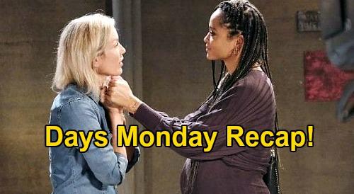 Days of Our Lives Spoilers: Monday, November 23 Recap - Lani Struggles To Forgive Eli - Shawn Stalls Jan - Brady Escapes