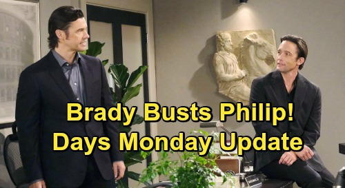 Days of Our Lives Spoilers: Monday, October 19 Update - Brady Busts Philip - Steve & Kayla's DNA Test In Blackout Limbo