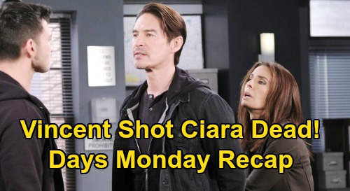 Days of Our Lives Spoilers: Monday, October 5 Recap - Vincent Says He Shot Ciara Dead - Tripp Tells Steve His Version of Events