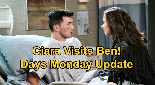 Days of Our Lives Spoilers: Monday, September 14 Update - Ciara Visits Ben - John's Messed Up - Lani Witnesses Kristen's Arrest