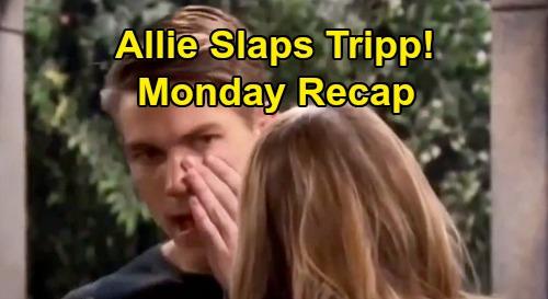 Days of Our Lives Spoilers: Monday, September 28 Recap - Tripp Rattled After Allie Slap - Melinda After Lani - John's Outbursts