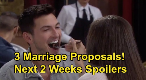 Days of Our Lives Spoilers Next 2 Weeks: 3 Marriage Proposals – Ciara Saves Ben from Danger – Justin Talks To Adrienne