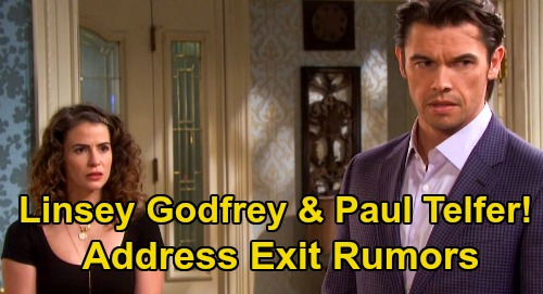 Days of Our Lives Spoilers: Paul Telfer and Linsey Godfrey Address Xander & Sarah Exit Concerns - Reveal DOOL Status