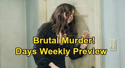 Days of Our Lives Spoilers Preview: Week of August 24 - Ghostly Visit, Eduardo Returns Jake & Gabi Passion and Brutal Murder
