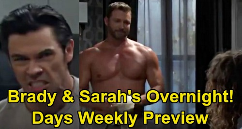 Days of Our Lives Spoilers Preview: Week of May 18 - Rolf Set Gabi Up - Sarah & Brady's Overnight Revenge - Orpheus Kidnaps John