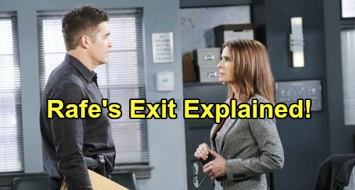 Days of Our Lives Spoilers: Rafe's DOOL Exit Explained - Leaves Town To Share Custody of David With Zoey?