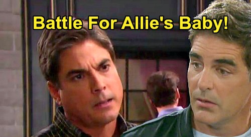 Days of Our Lives Spoilers: Rafe and Lucas Battle Over Allie's Baby - Sami's Exes Face Off Over Adoption Plans