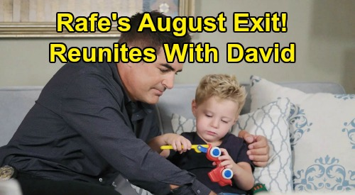 Days of Our Lives Spoilers: Rafe's August Exit - Reunites with David, Gets Another Chance to Be His Dad?