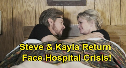 Days of Our Lives Spoilers: Steve & Kayla Return To Salem Nightmare – Hospital Crisis, Bonnie Conflict and Family Drama