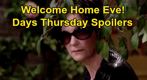 Days of Our Lives Spoilers: Thursday, August 13 – Eve Sneaks In Salem, Claire's Discovery – Ben & Ciara Consummate Marriage
