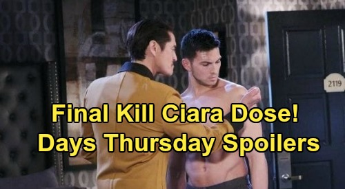 Days of Our Lives Spoilers: Thursday, August 20 – Vincent Final Deadly Dose for Ben – Jealous Jake's Fury - Gabi Blasts WilSon
