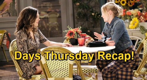 Days of Our Lives Spoilers: Thursday, November 19 Recap - Sarah Spies Philip With Ava - Xander Enlists Charlie's Help