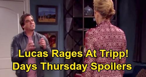 Days of Our Lives Spoilers: Thursday, October 15 – Tripp Raises Red Flags for Steve - Lucas Explodes Over Nicole's Horrible News