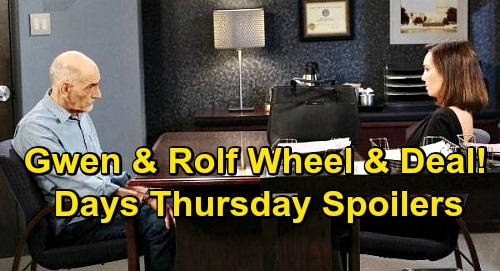 Days of Our Lives Spoilers: Thursday, October 29 – Hospitalized Clyde Warns Ben – Allie & Henry Reunite – Gwen Helps Rolf's Legal Jam