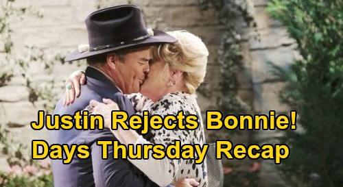 Days of Our Lives Spoilers: Thursday, September 24 Recap - Justin Rejects Bonnie - Gwen Visits Rolf - Abigail Hallucinates