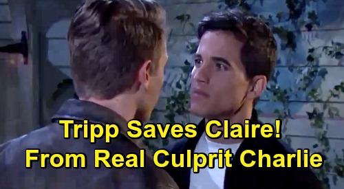 Days of Our Lives Spoilers: Tripp Saves Claire from Charlie – Prevents Allie's Real Rapist from Claiming Another Victim?