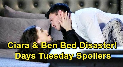 Days of Our Lives Spoilers: Tuesday, August 11 – Ciara & Ben Lovemaking Shock – Jake & Gabi Fierce Faceoff – Justin Stuns Bonnie