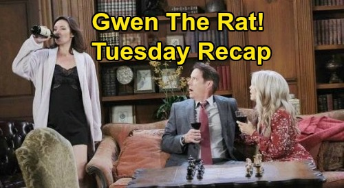 Days of Our Lives Spoilers: Tuesday, August 11 Recap - Gwen Tips Off Chad - Justin Takes On Bonnie's Case - Ben Plagued By PTSD